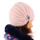 Bonnet turban femme hiver bijoux 304 Rose-Bonnet femme-CHARLESELIE94