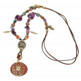 Sautoir long bohème perles verre breloques C101