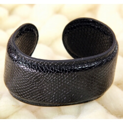 Bracelet manchette large cuir ethnique BM2