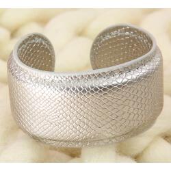 Bracelet manchette large cuir ethnique BM3
