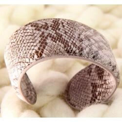 Bracelet manchette large cuir ethnique BM4