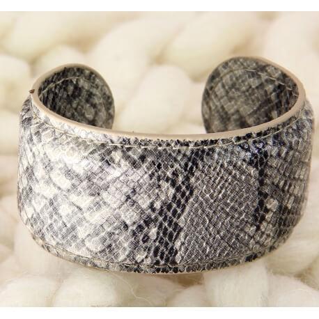 Bracelet manchette large cuir ethnique BM5