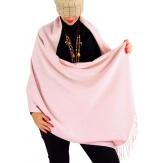 Écharpe châle étole laine hiver BAIKA rose