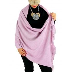 Écharpe châle étole laine hiver BAIKA lilas