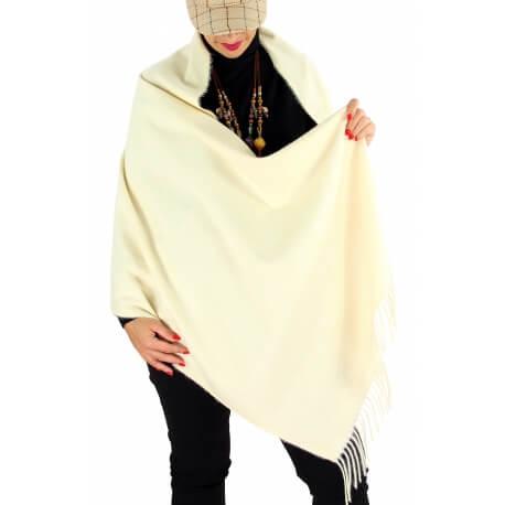 Écharpe châle étole laine hiver BAIKA beige