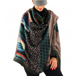 Écharpe foulard femme AUVERGNE taupe