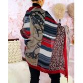 Écharpe foulard femme AUVERGNE bordeaux