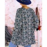 Tunique poncho grande taille MALOU gris