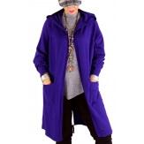 Gilet long capuche grande taille DORINE violet
