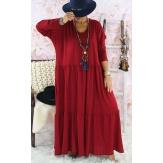 Robe longue femme grande taille TERESA Bordeaux Robe longue femme