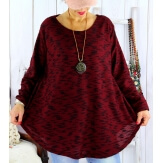 Tunique femme grande taille longue GISOU Bordeaux-Tunique femme-CHARLESELIE94