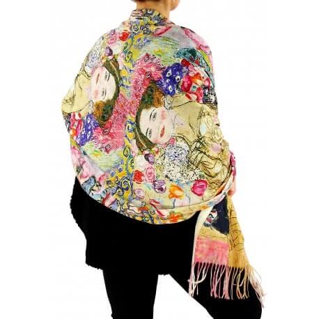 Écharpe étole châle femme laine XXL KLIMT 2-Écharpe femme-Charleselie 94 Since 1994 Prêt à porter