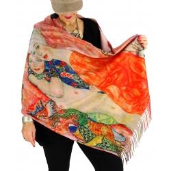 Écharpe étole châle femme laine XXL KLIMT 3-Écharpe femme-Charleselie 94 Since 1994 Prêt à porter