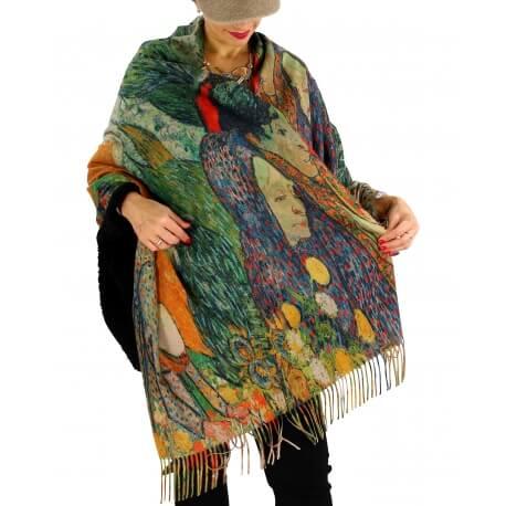 Écharpe étole châle femme laine XXL KLIMT 7