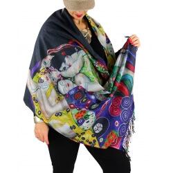 Écharpe étole châle femme laine XXL KLIMT 8