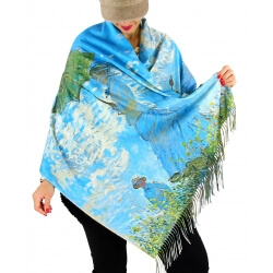 Écharpe étole châle femme laine XXL MONET 1