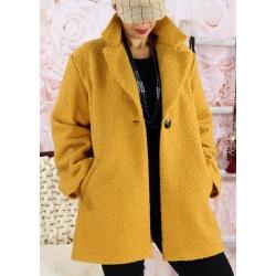 Manteau bouclette femme grande taille SAPHIR Safran Manteau femme