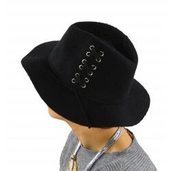 Chapeau Fédora laine hiver BRODY noir