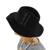 Chapeau Fédora laine hiver BRODY noir-Chapeau femme-CHARLESELIE94
