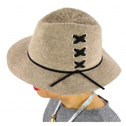 Chapeau Fédora laine hiver BRODY taupe