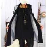 Tunique longue ample grande taille noir MAXOU
