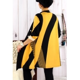 Tunique longue ample grande taille jaune MAXOU