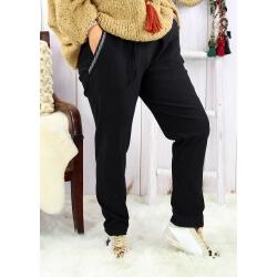 Pantalon femme grande taille stretch noir NAYA Pantalon femme