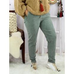 Pantalon femme grande taille stretch kaki NAYA Pantalon femme