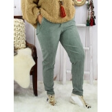 Pantalon femme grande taille stretch NAYA kaki