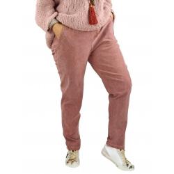 Pantalon femme grande taille stretch NAYA rose