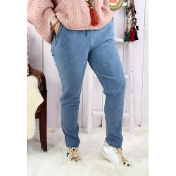 Pantalon femme grande taille stretch bleu jean NAYA Pantalon femme