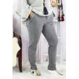 Pantalon femme grande taille stretch gris NAYA Pantalon femme