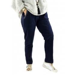 Pantalon femme grande taille strech loose FRANCIS marine