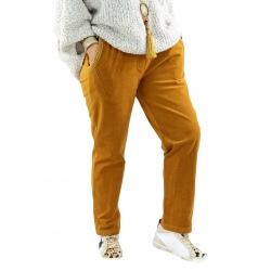 Pantalon femme grande taille strech loose FRANCIS moutarde