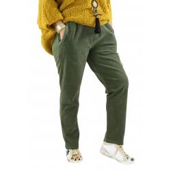 Pantalon femme grande taille strech loose FRANCIS kaki