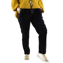 Pantalon femme grande taille strech loose FRANCIS noir