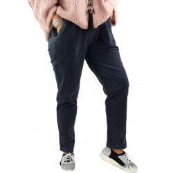 Pantalon femme grande taille strech loose FRANCIS gris