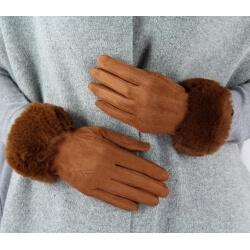 Gants femme hiver tactiles polaire fourrure G19 Camel Gants femme