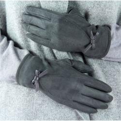 Gants femme hiver suédine polaire G10 Gris