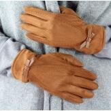 Gants femme hiver suédine polaire G10 Camel-Gants femme-CHARLESELIE94