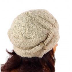 Bonnet béret femme chic hiver polaire ENNIO Beige