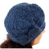 Bonnet béret femme chic hiver polaire ENNIO bleu