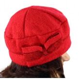 Bonnet béret femme chic hiver polaire ENNIO rouge-Béret femme-CHARLESELIE94