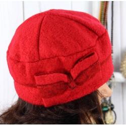 Bonnet béret femme chic hiver polaire ENNIO rouge Béret femme