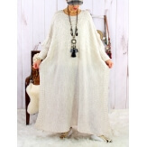 Robe pull poncho grande taille hiver beige LOCO Robe grande taille