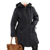 Doudoune longue capuche grande taille VANOU noire-Doudoune femme-CHARLESELIE94