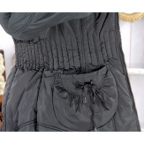 Doudoune longue capuche grande taille VANOU gris