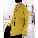 Pull tunique femme grande taille trapèze olive DONNA Pull femme