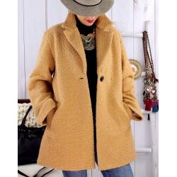 Manteau lainage femme grande taille SAPHIR Camel Manteau femme
