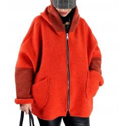 Veste capuche grande taille laine bouillie HARRY Potiron